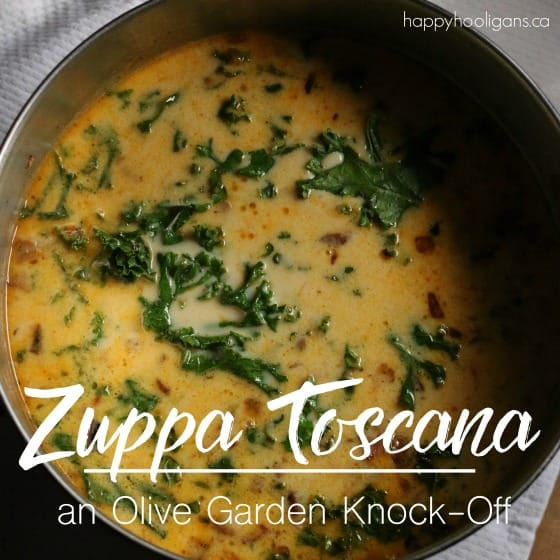 Zuppa Toscana - Olive Garden Knock Off Kale and Sausage Soup Recipe