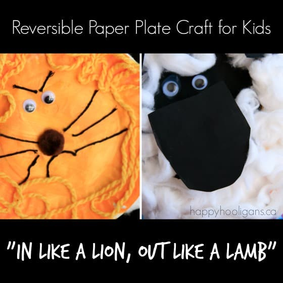 2-Sided Lion and Lamb Craft for Kids