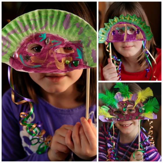 Mardi Gras Mask Craft for Kids