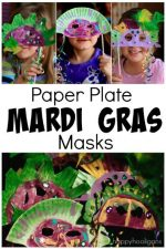 Paper Plate Mardi Gras Masks – A Fabulous Fat Tuesday Craft for Kids to Make
