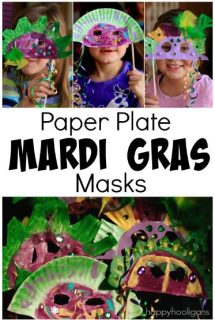 Paper Plate Mardi Gras Masks for Kids - Happy Hooligans