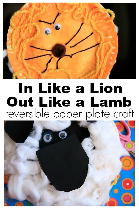 In like a lion out like a lamb craft for kids - Happy Hooligans