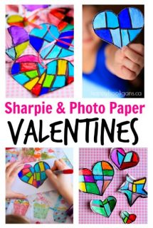 Sharpie & Photo Paper Valentines - Happy Hooligans