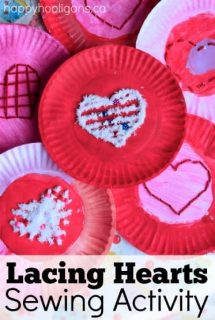 Valentines Lacing Activity for Kids - Happy Hooligans