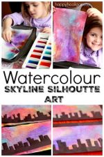 City Skyline Silhouette Art Project for Kids
