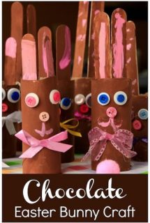 """Chocolate"" Easter Bunny Craft for Kids – An Easy Toilet Roll Craft"