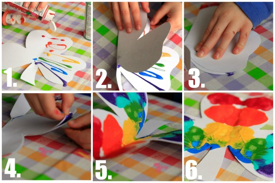 Ink Blot Painting step-by-step