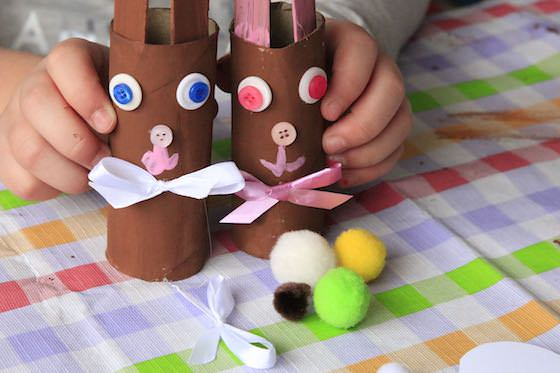 Supplies for Chocolate Easter Bunny craft