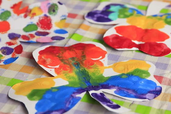 colourful shamrock craft for kids