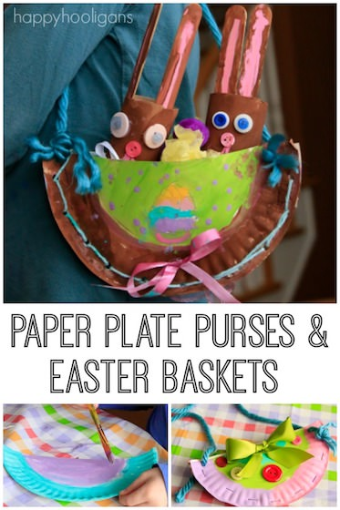 Paper Plate Purse and Easter Basket Craft - Happy Hooligans