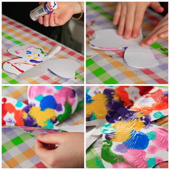 St. Patrick's Day Craft for Kids - Ink Blot Shamrocks