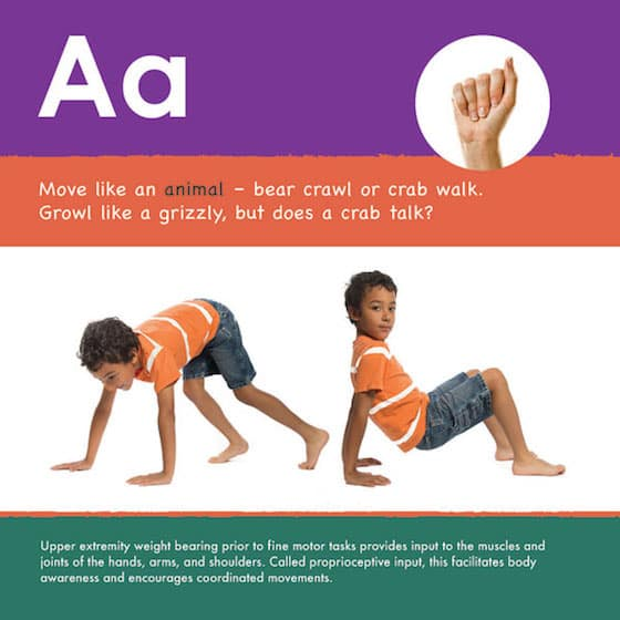 Letter A activities for fine motor development