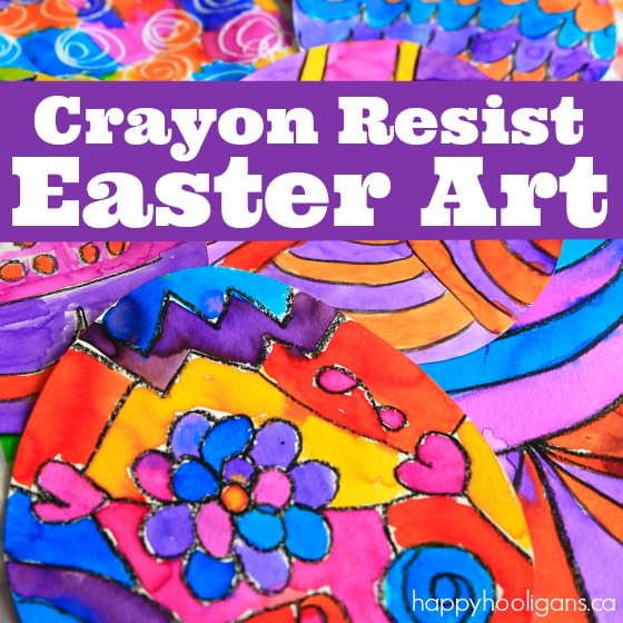 Crayon Resist Art Activity for Easter
