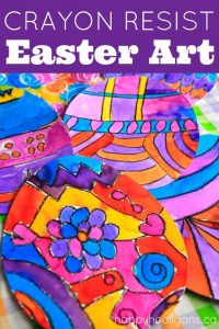 Crayon Resist Easter Art Project for Kids - Happy Hooligans