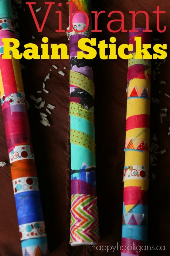 Colourful rain stick craft for spring happy hooligans for Easy rain stick craft
