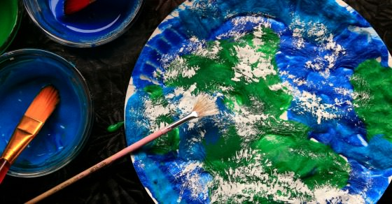 3 Ingredient Puffy Paint Earth Day Craft For Kids