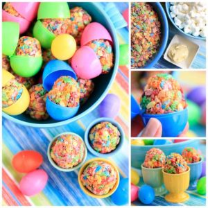 Fruity Pebbles Easter Treats Collage