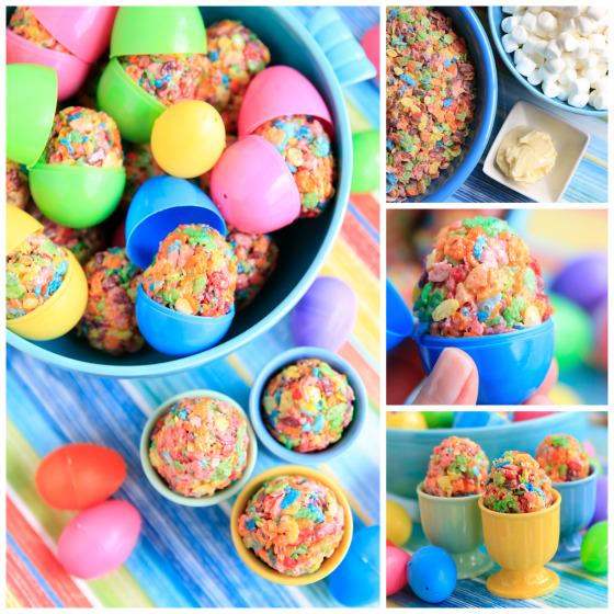 Quick and Easy Fruity Pebbles Easter Egg Treats for Kids Bowl Of Fruity Pebbles Calories