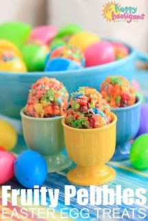 Easter Egg Fruity Pebbles Rice Krispie Treats