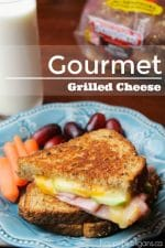 Gourmet Grilled Cheese with Ham and Green Apple