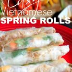 fresh spring rolls and juliened vegetables
