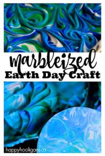 Gorgeous Marbled Earth Day Craft for Kids