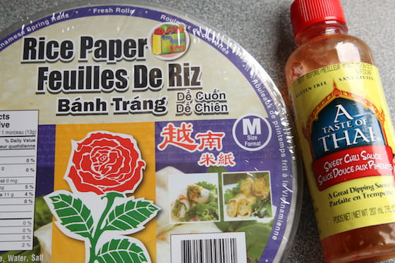 RIce Paper Wraps and Thai Sweet Chili dipping sauce