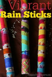 Vibrant Rain Sticks for Kids to Make - Happy Hooligans