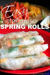 Vietnamese Spring Rolls Recipe - Happy Hooligans
