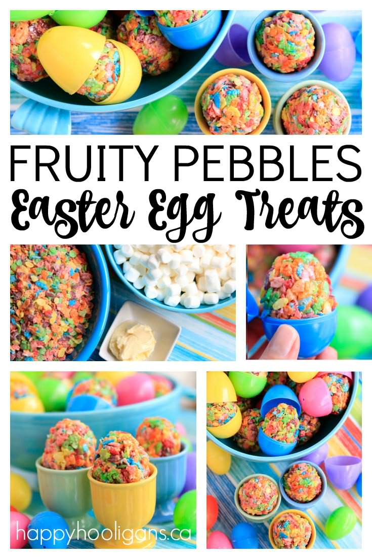 These quick and easy Fruity Pebbles Easter Egg Treats are the perfect last-minute treat for the class or for home. - Happy Hooligans