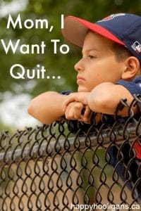 when your child wants to quit an extracurricular activity