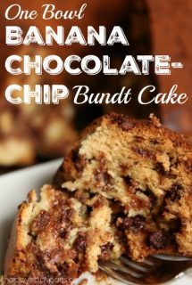 Banana Chocolate-Chip Bundt Cake {In One Bowl!}
