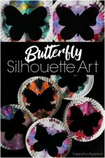 Paper Plate Butterfly Silhouette Art for Kids