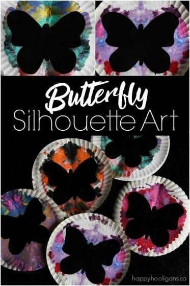 Butterfly Silhouette Art for Kids