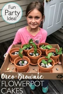 Oreo-Brownie Flowerpot Cakes for Birthdays and Garden Parties