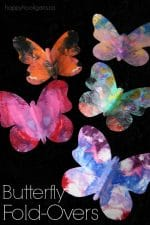 Gorgeous Symmetrical Butterfly Craft for Kids – with Free Printable