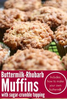 Buttermilk-Rhubarb Muffins with sugar crumble topping
