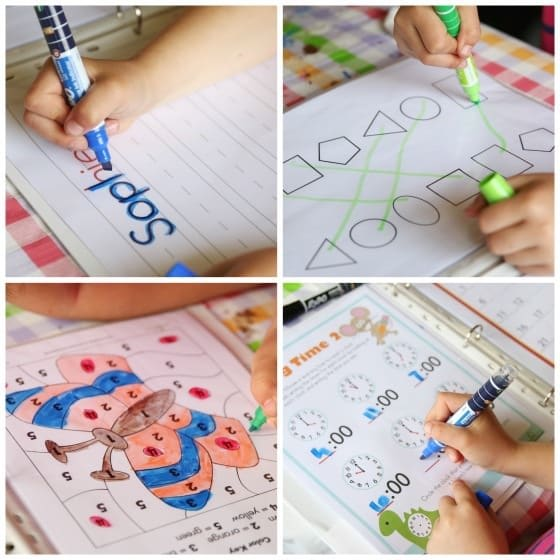 Expo Dry Erase Worksheets for Preschoolers