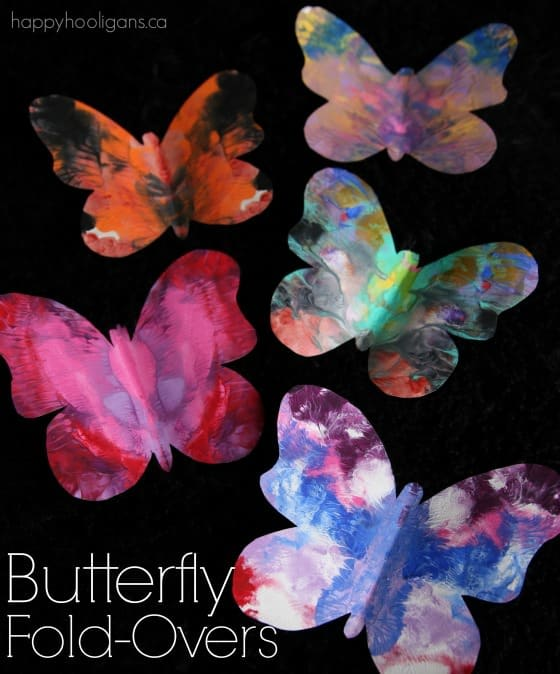 Gorgeous Symmetrical Butterfly Craft For Kids With Printable