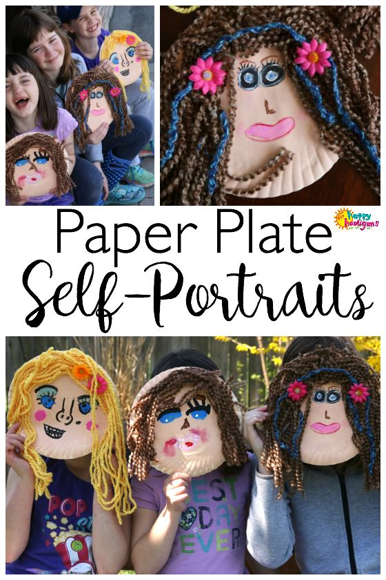 Paper Plate Self-Portrait Craft for Kids - Happy Hooligans