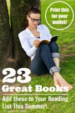 23 Great Books for Moms to Read this Summer – Print the List for Your Wallet!