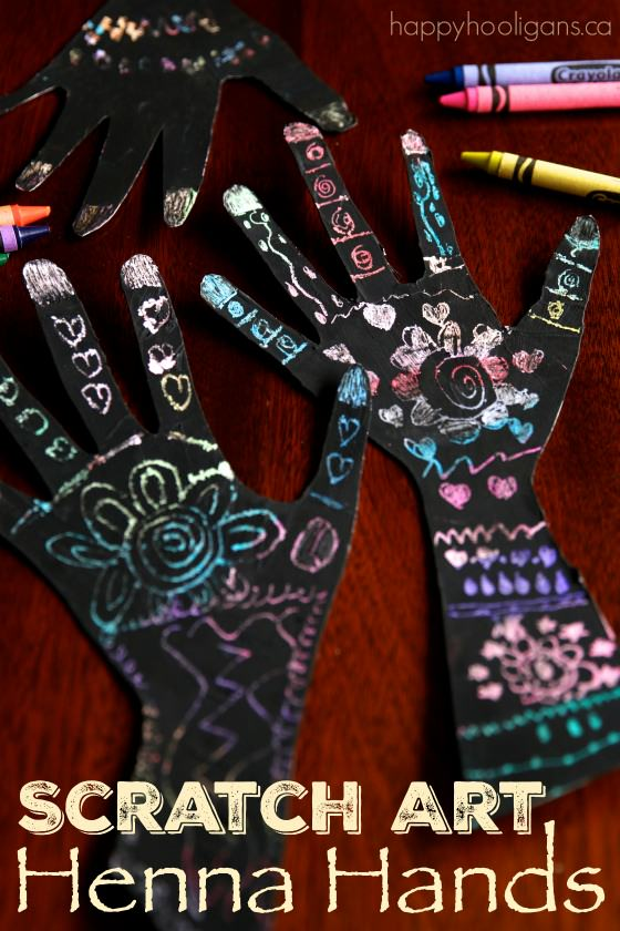 Scratch Art Henna Handprint Craft – a Gorgeous Handprint Art Activity for Kids
