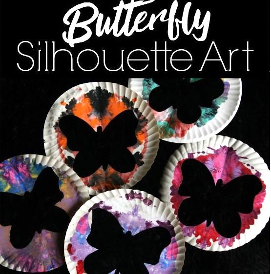Paper Plate Butterfly Silhouette Art For Kids Happy Hooligans