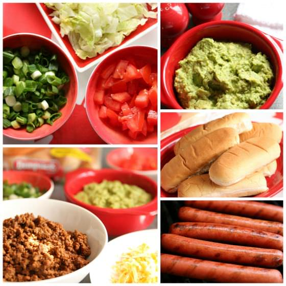 ingredients for taco dogs