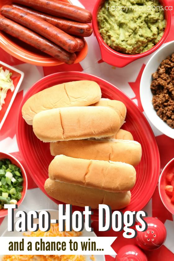 Delicious Taco Hotdogs and a Chance to Win an Inflatable Air Couch