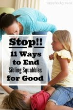 11 Sure-Fire Ways to Stop Sibling Fighting and to Encourage Kids to Get Along