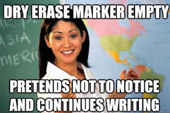 Dry Erase Teacher Fail