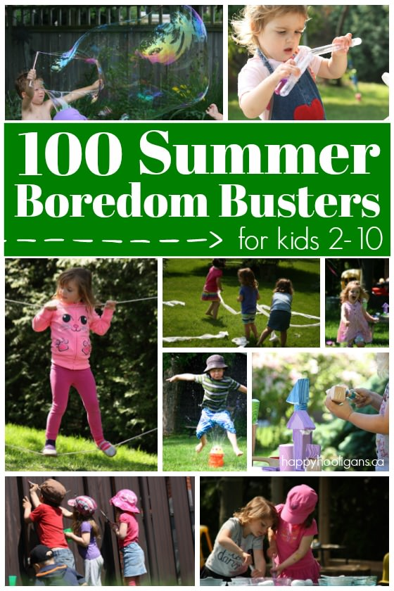100 Fabulous, Fun Activities for Kids to Do At Home this summer. Crafts, science, sensory play, recipes and more to keep kids 2-10 entertained and learning all summer long - Happy Hooligans