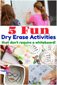 5 Fun Dry Erase Activities that Don't Require a Whiteboard - Happy Hooligans