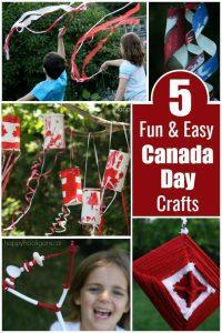 5 Fun and Easy Canada Day Crafts - Happy Hooligans